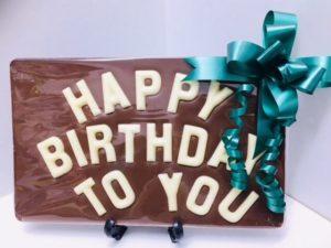 Happy Birthday Chocolate Plaque