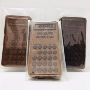 Calculator shaped chocolate