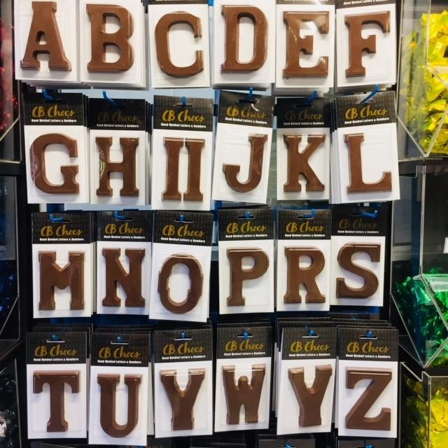 Chocolate letters Sinterklaas