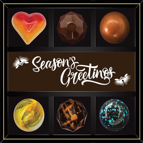 Artisan chocolate Christmas gift